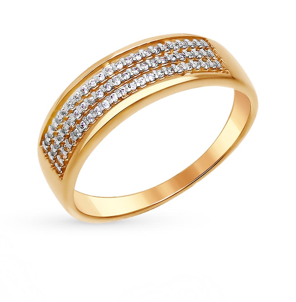 золотое кольцо с фианитами SOKOLOV 015871