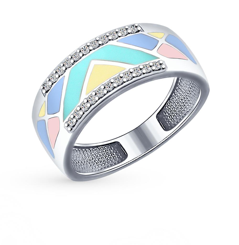 серебряное кольцо с фианитами SOKOLOV 94012173