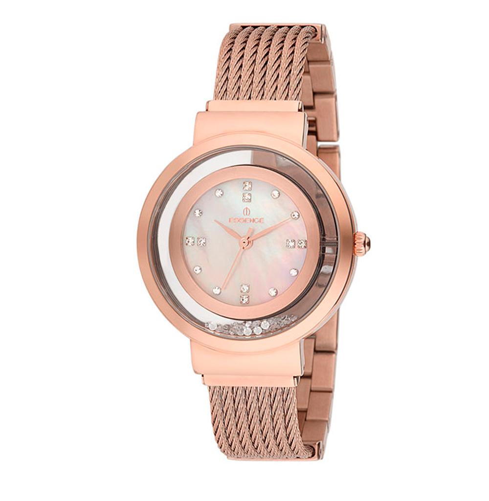 Женские часы ES6421FE.410 на стальном браслете с розовым IP покрытием с минеральным стеклом в Санкт-Петербурге