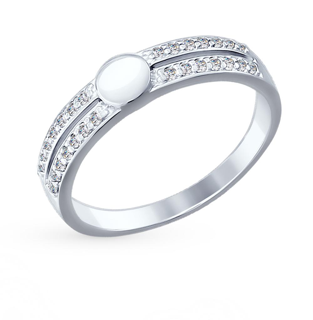 серебряное кольцо с фианитами SOKOLOV 94012072