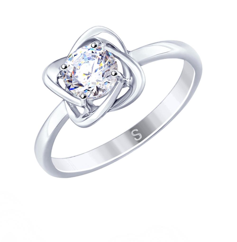 серебряное кольцо с фианитами SOKOLOV 94012694