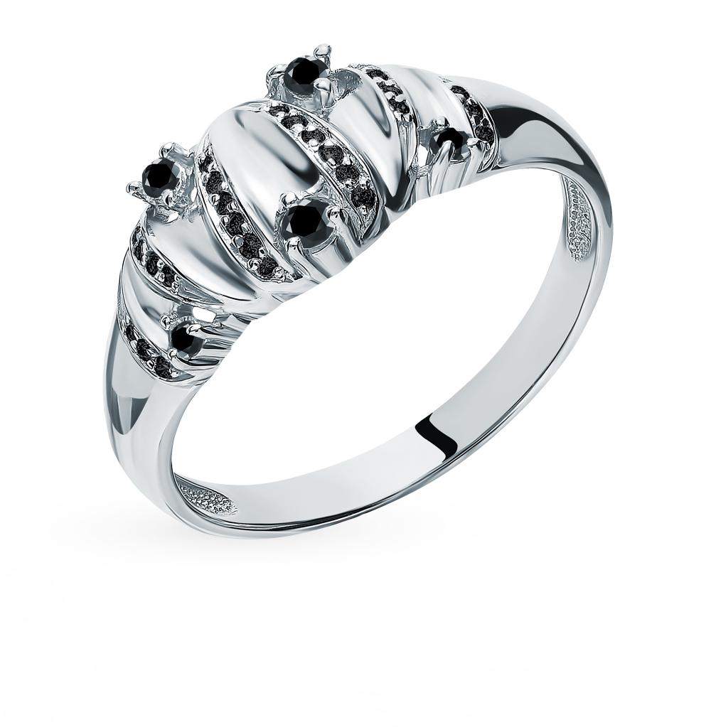 Фото «Золотое кольцо с черными бриллиантами»