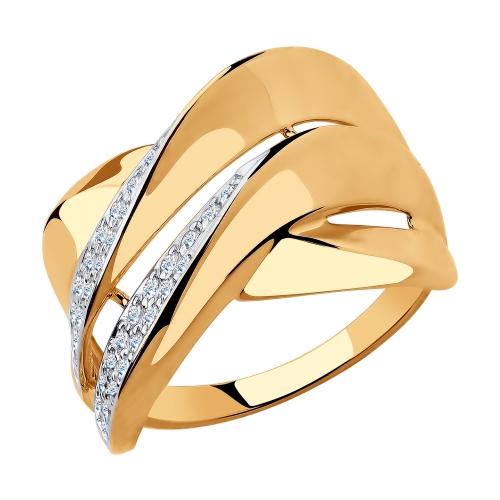 Золотое кольцо с фианитами SOKOLOV 018294* в Екатеринбурге