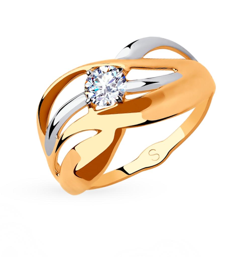 Фото «Золотое кольцо с фианитами SOKOLOV 018212»