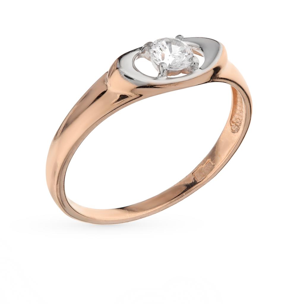 золотое кольцо с фианитами SOKOLOV 017133*