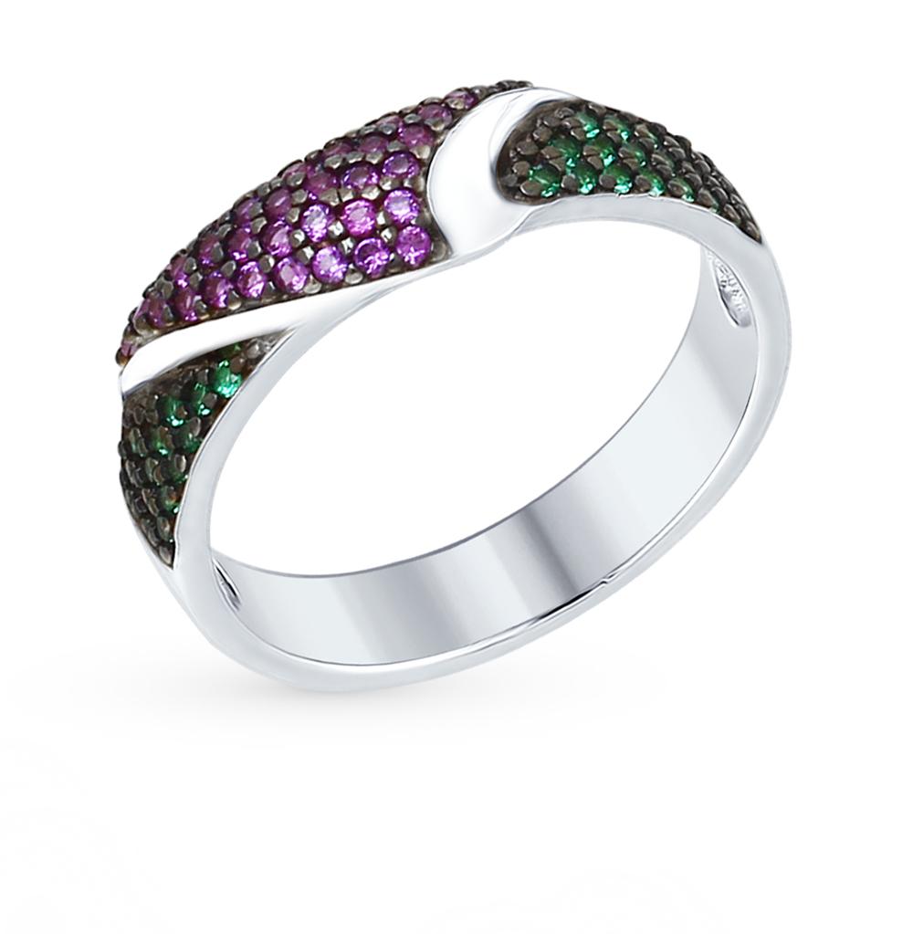 серебряное кольцо с фианитами SOKOLOV 94012380