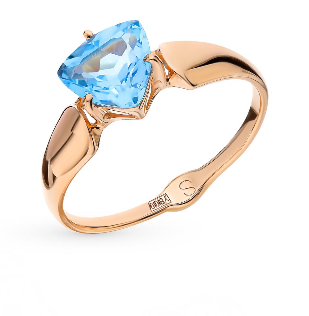 золотое кольцо с топазами SOKOLOV 715225*
