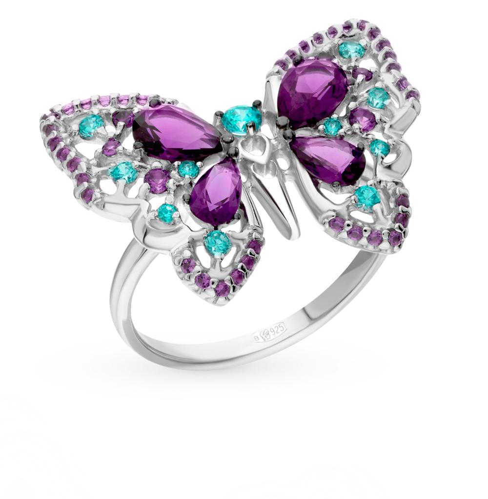 серебряное кольцо с фианитами SOKOLOV 94012312