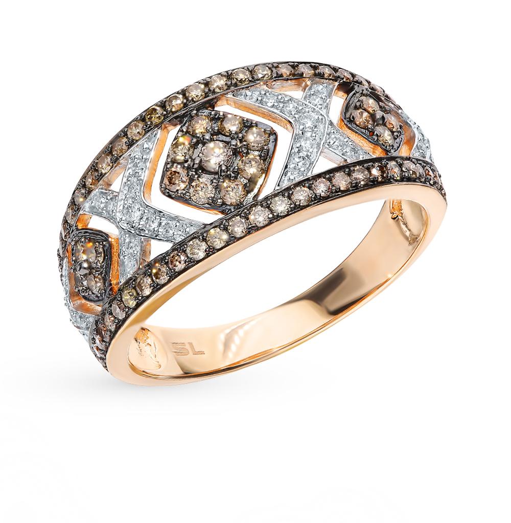 Фото «Золотое кольцо с коньячными бриллиантами»