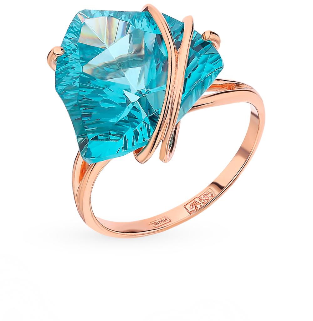 Золотое кольцо с аквамарином в Санкт-Петербурге