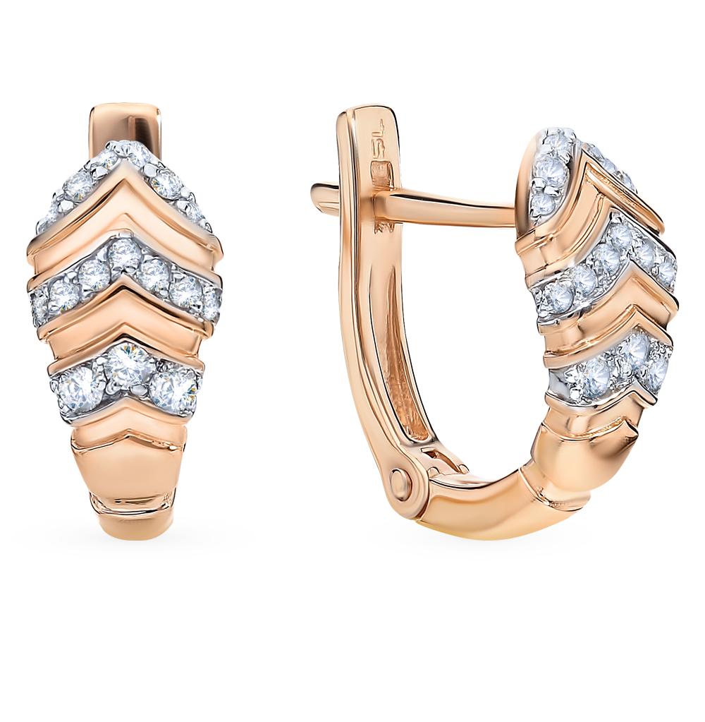 Золотые серьги с бриллиантами в Санкт-Петербурге