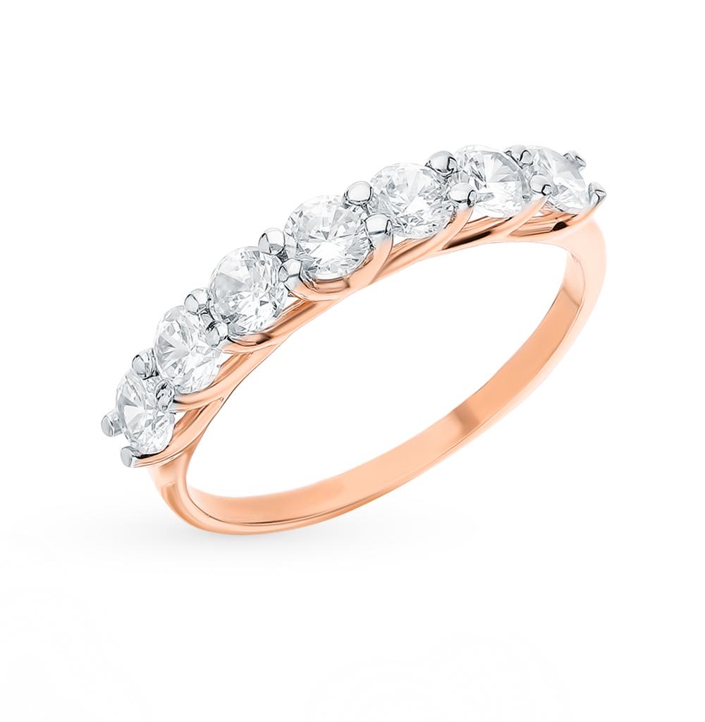 золотое кольцо с фианитами SOKOLOV 017052*