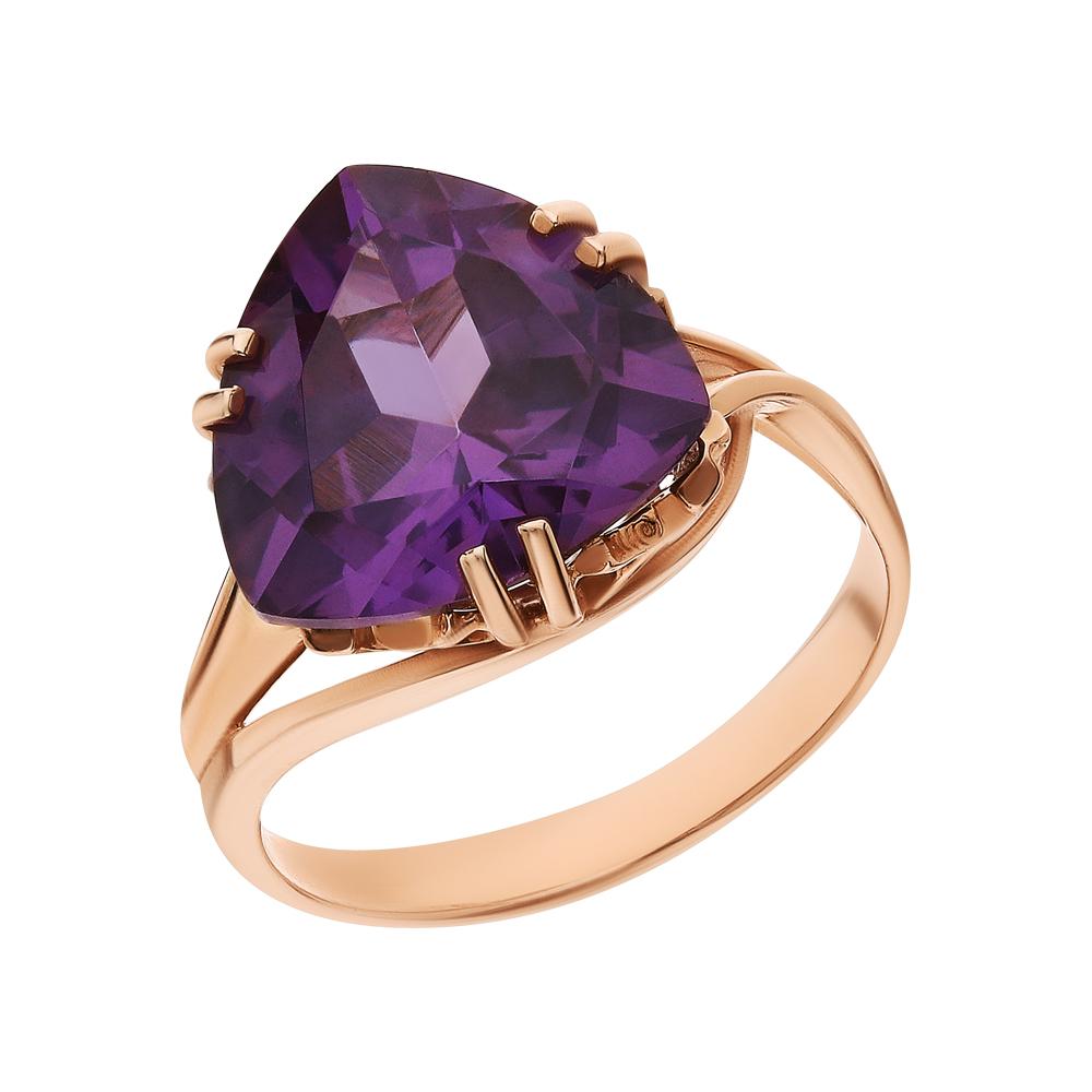 Фото «Золотое кольцо с александритами синтетическими»