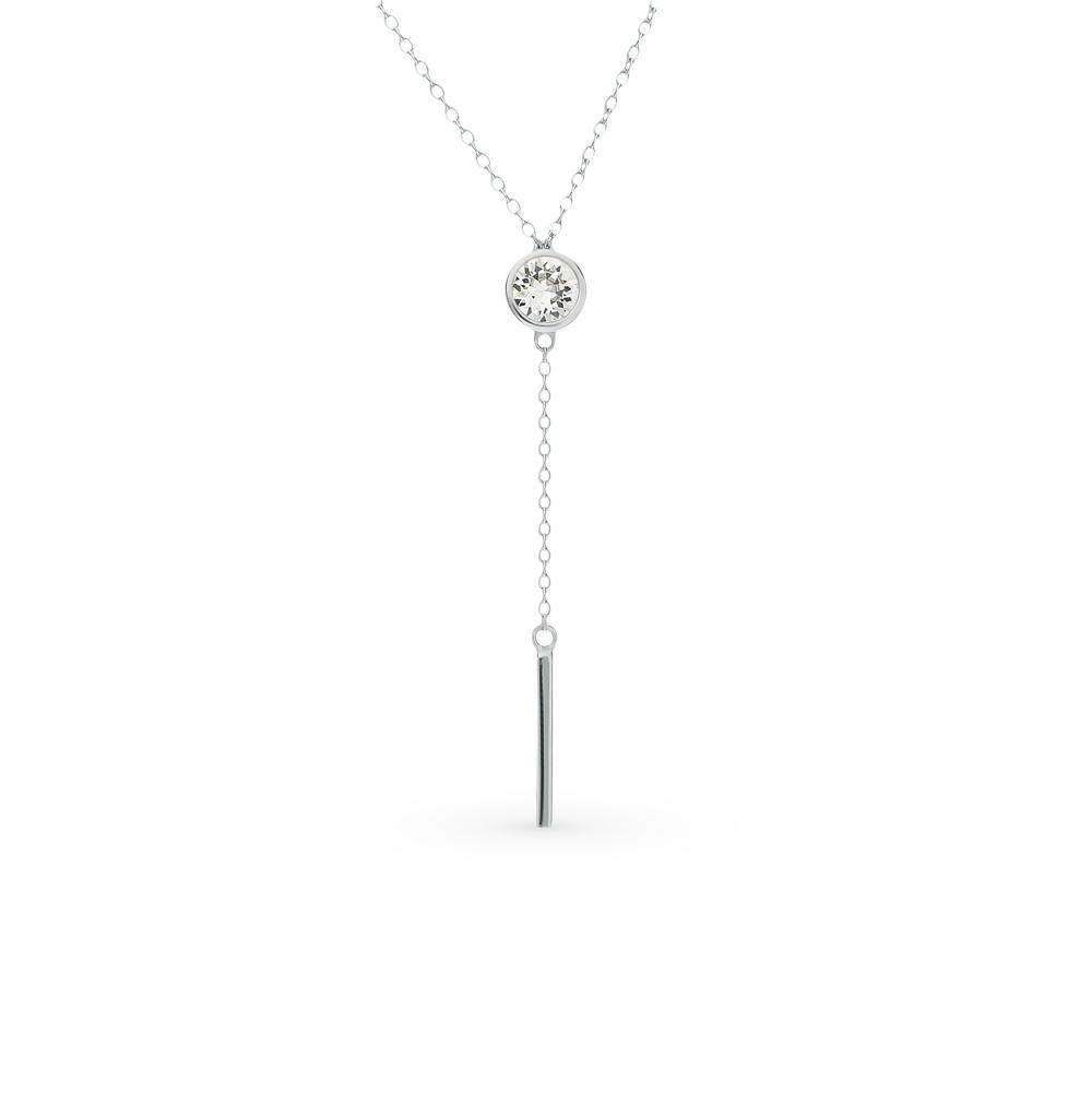 серебряное шейное украшение с алпанитом
