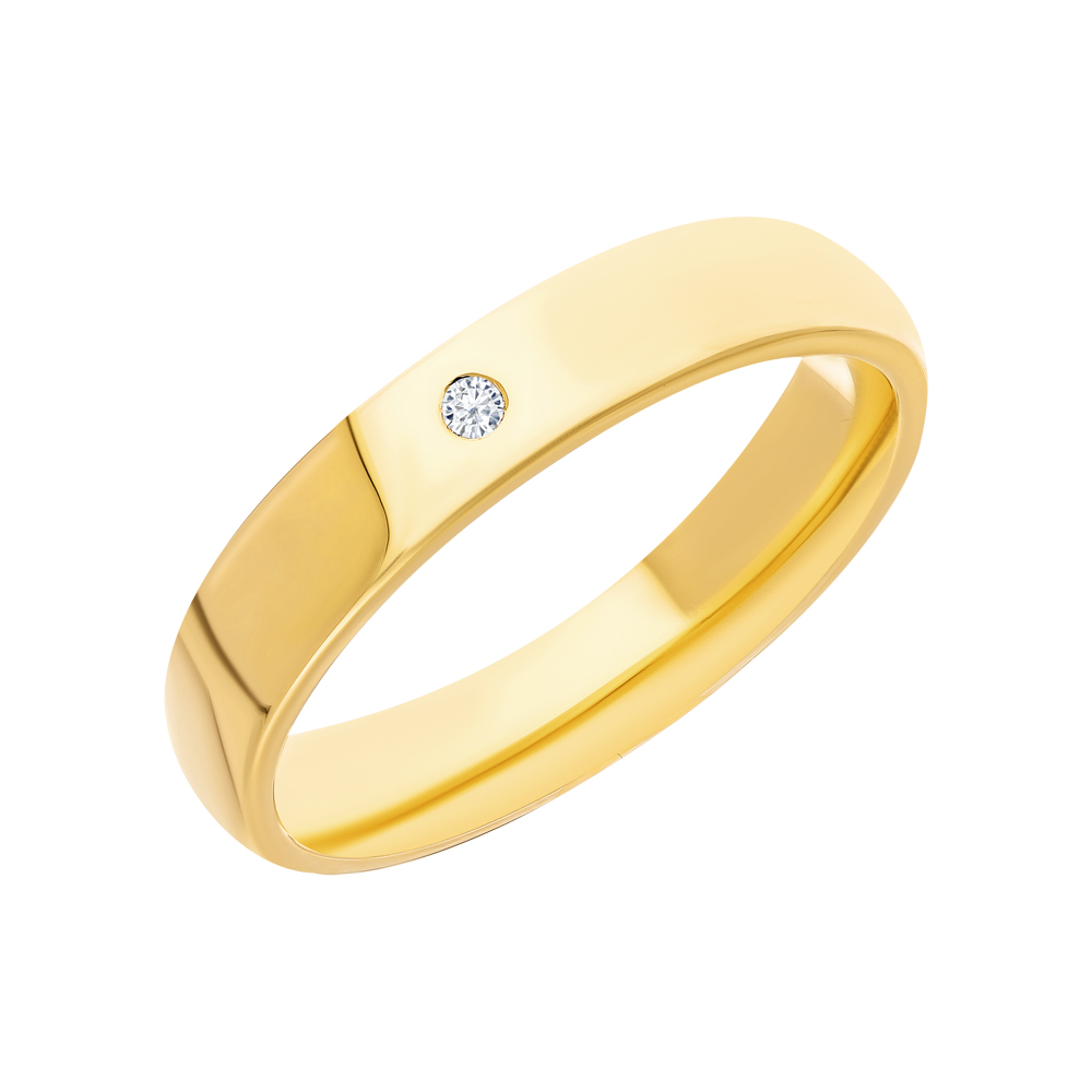 Золотое обручальное кольцо с бриллиантами в Санкт-Петербурге