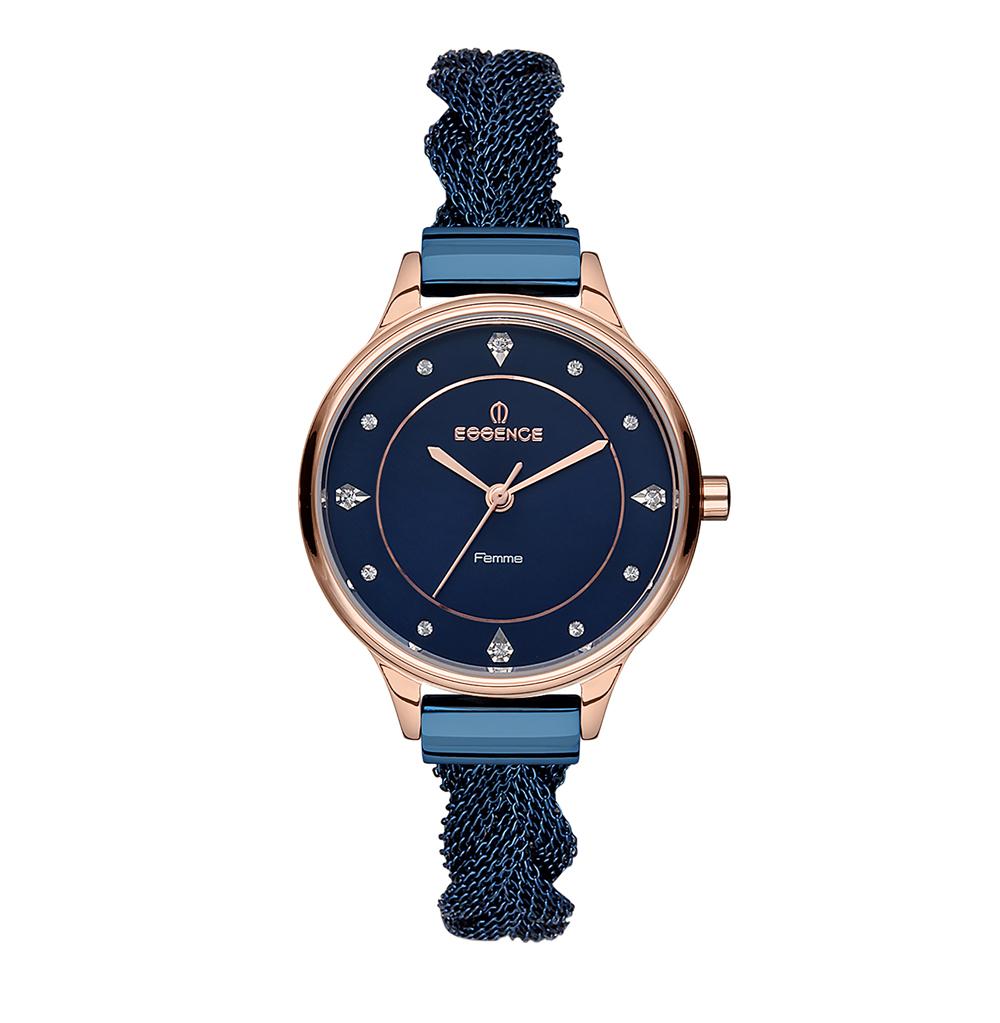 Женские часы D1064.990 на стальном браслете с PVD покрытием с минеральным стеклом