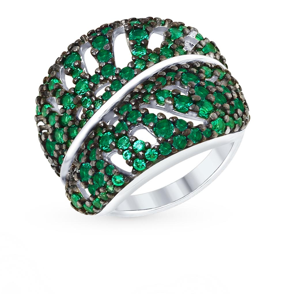 серебряное кольцо с фианитами и кубическими циркониями SOKOLOV 94012365