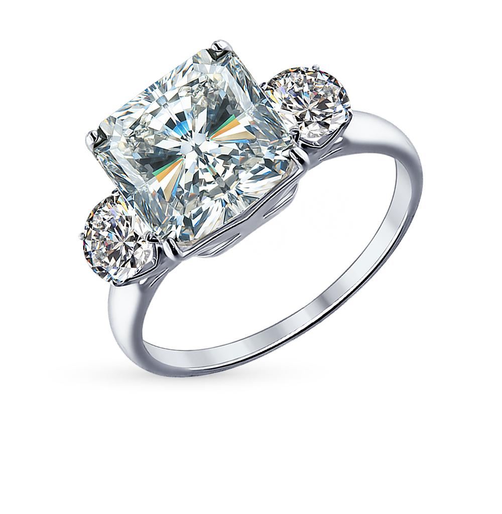 Фото «Серебряное кольцо с фианитами SOKOLOV 94012077»