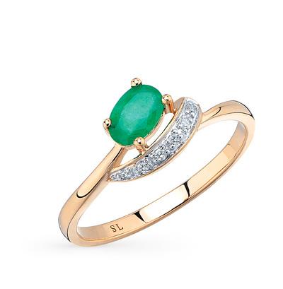 Фото «кольцо с изумрудами и бриллиантами»