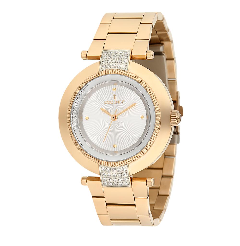 Женские часы ES6386FE.130 на стальном браслете с PVD покрытием с минеральным стеклом