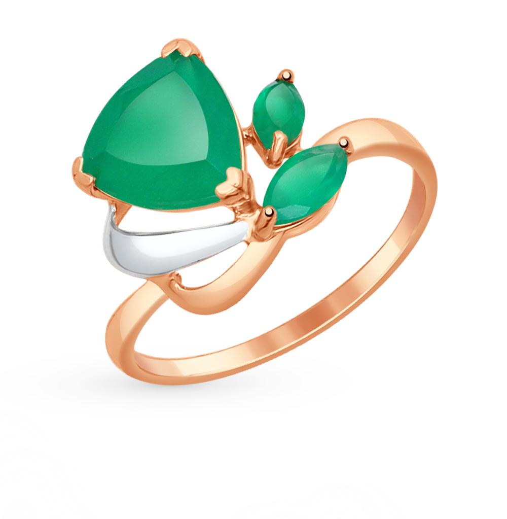 золотое кольцо с агатом SOKOLOV 714625*