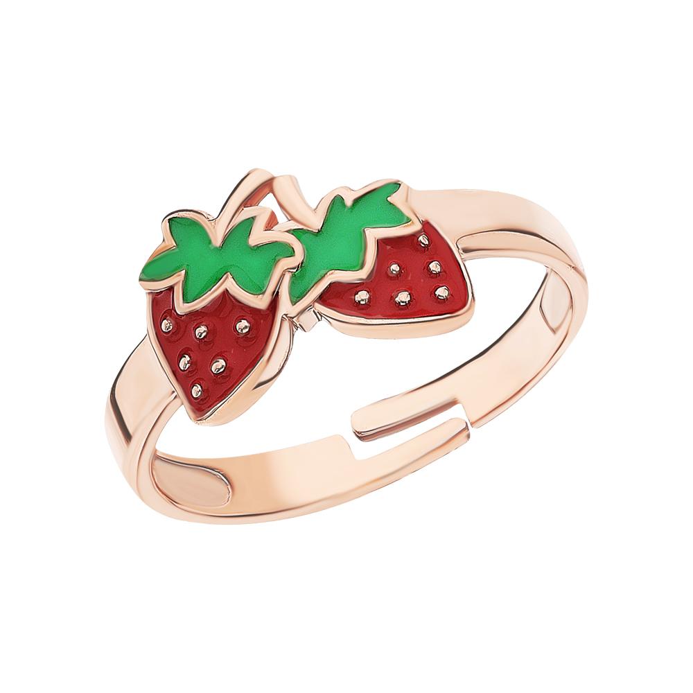 Золотое кольцо с эмалью в Екатеринбурге