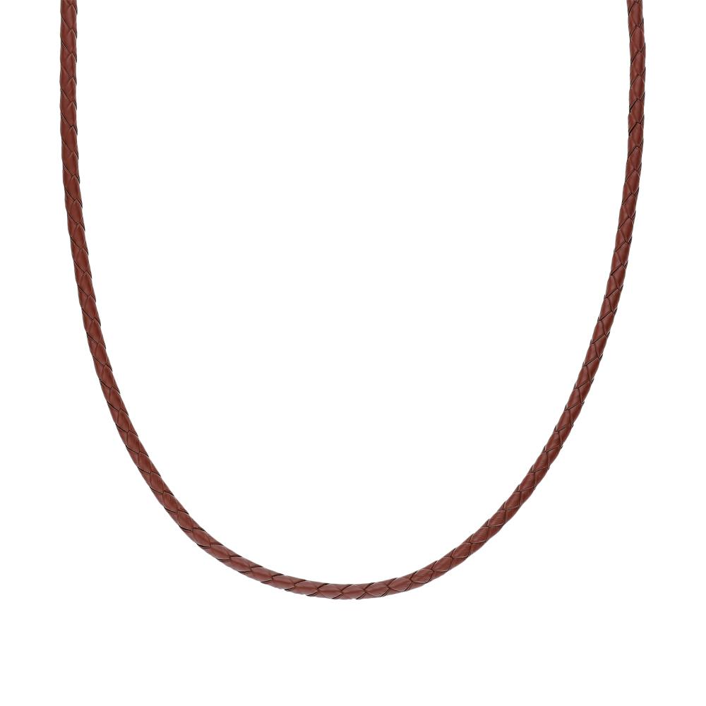 Фото «Серебряное шейное украшение с натуральными кожами»