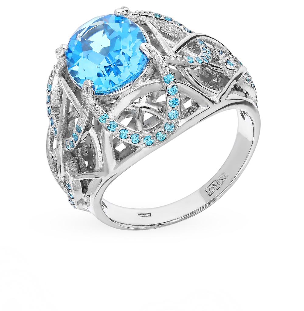 Фото «Золотое кольцо со шпинелью и топазами»
