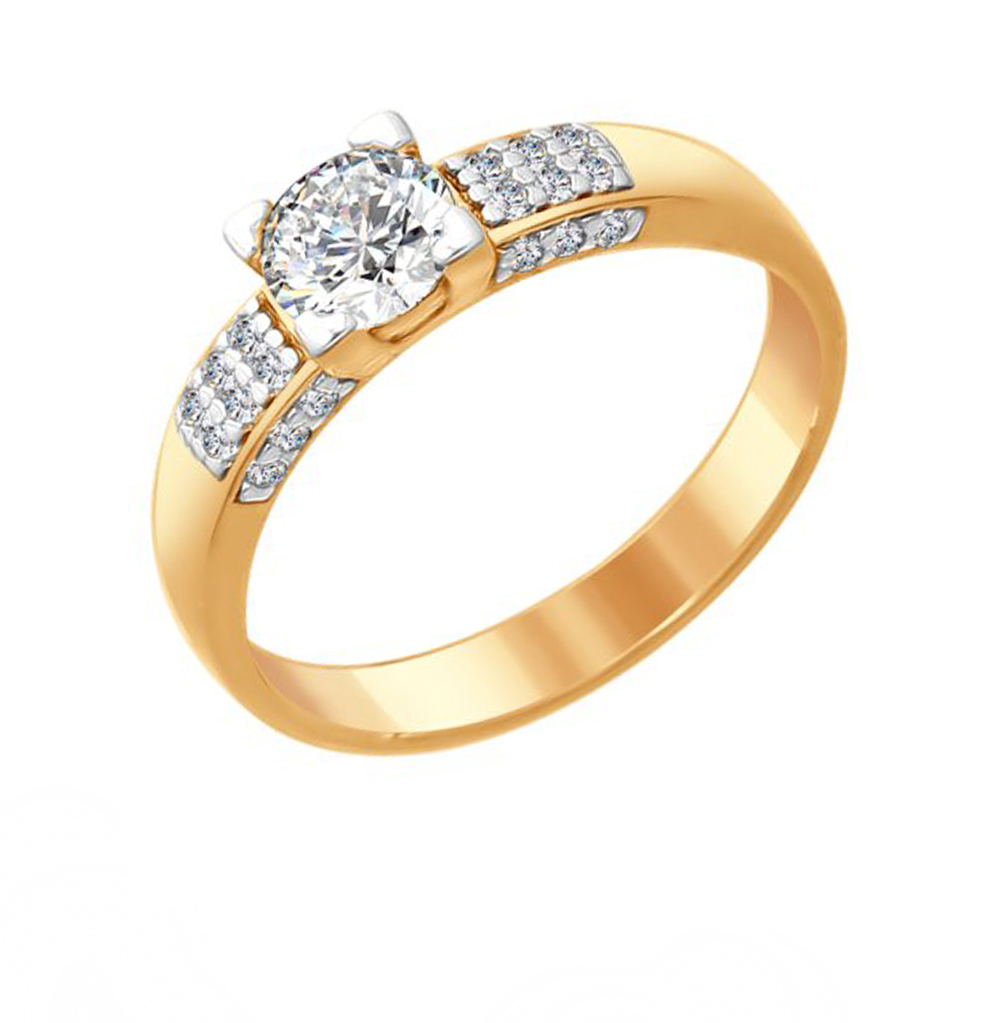 Фото «Серебряное кольцо с фианитами SOKOLOV 89010089»