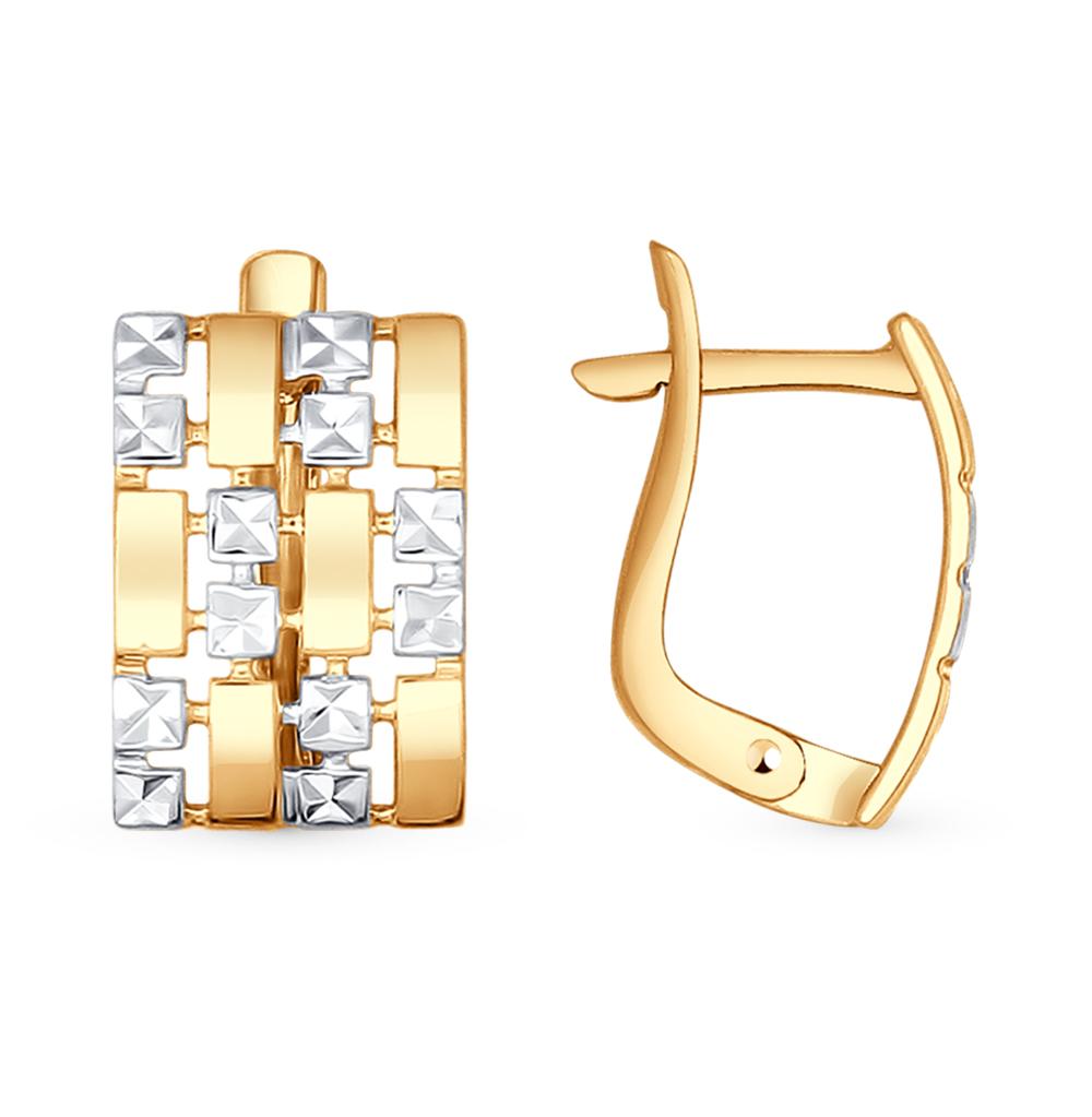 золотые серьги SOKOLOV 027388*