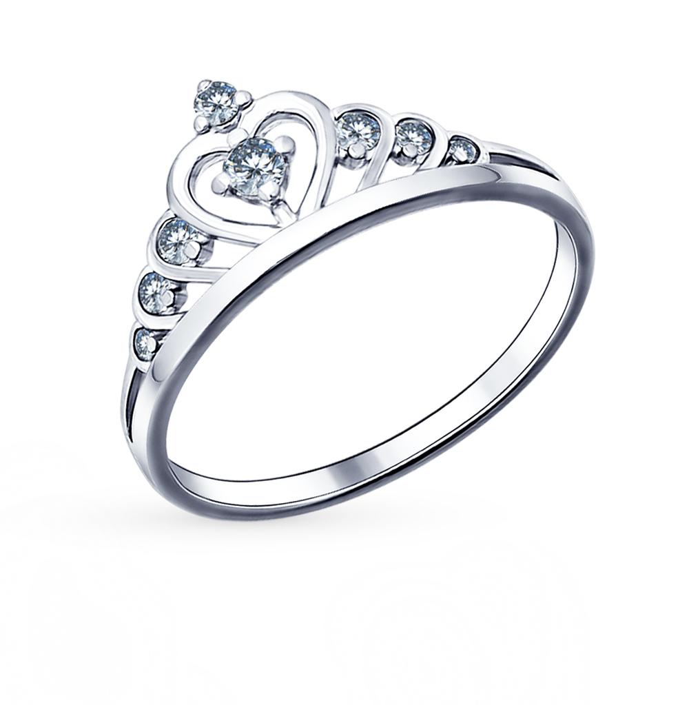 серебряное кольцо с фианитами SOKOLOV 94011483