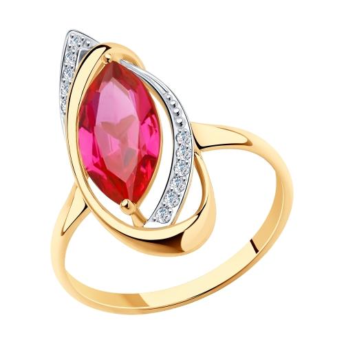 Золотое кольцо с корундом SOKOLOV 716014* в Екатеринбурге