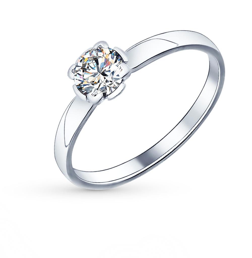 Фото «Серебряное кольцо с фианитами SOKOLOV 89010010»