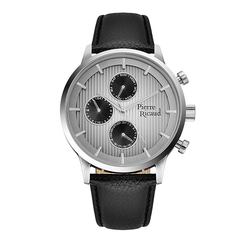 Фото «Мужские кварцевые часы P97230.5217QF на кожаном ремешке с минеральным стеклом»