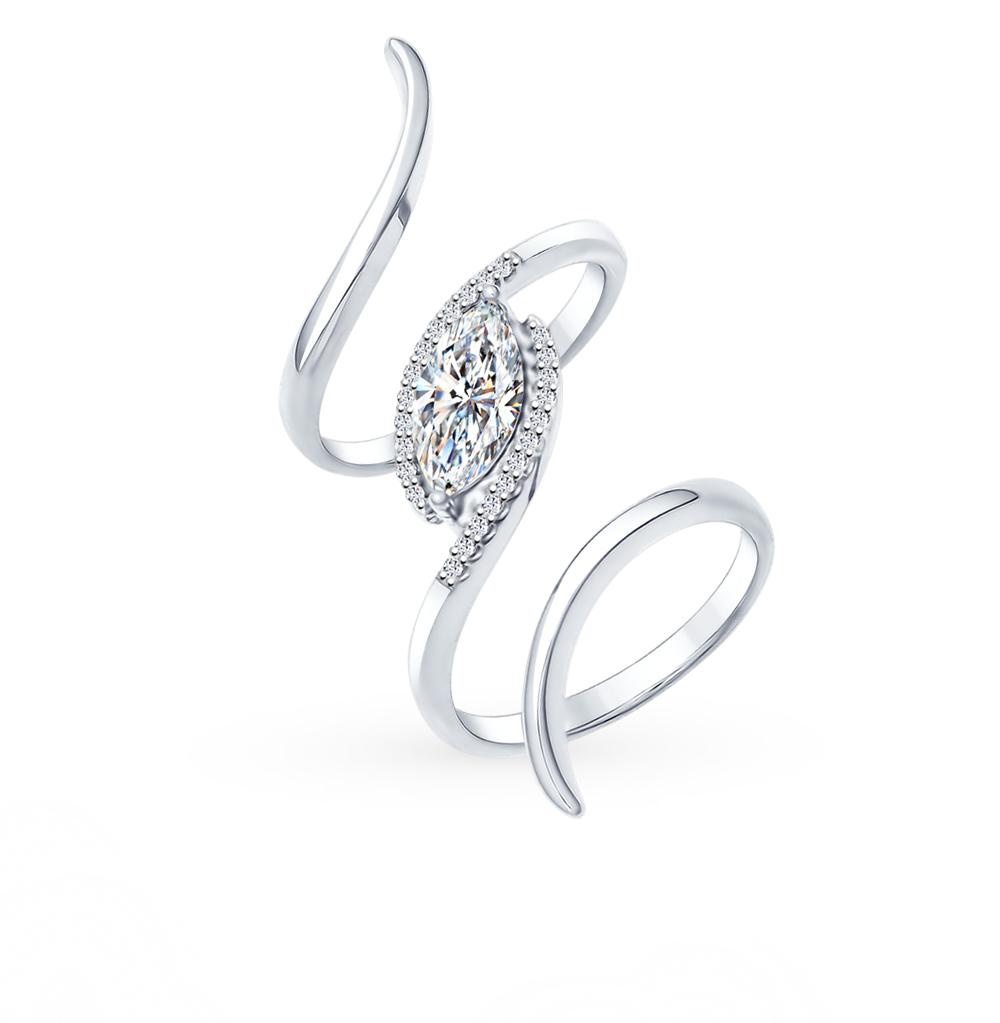 серебряное кольцо с фианитами SOKOLOV 94011949