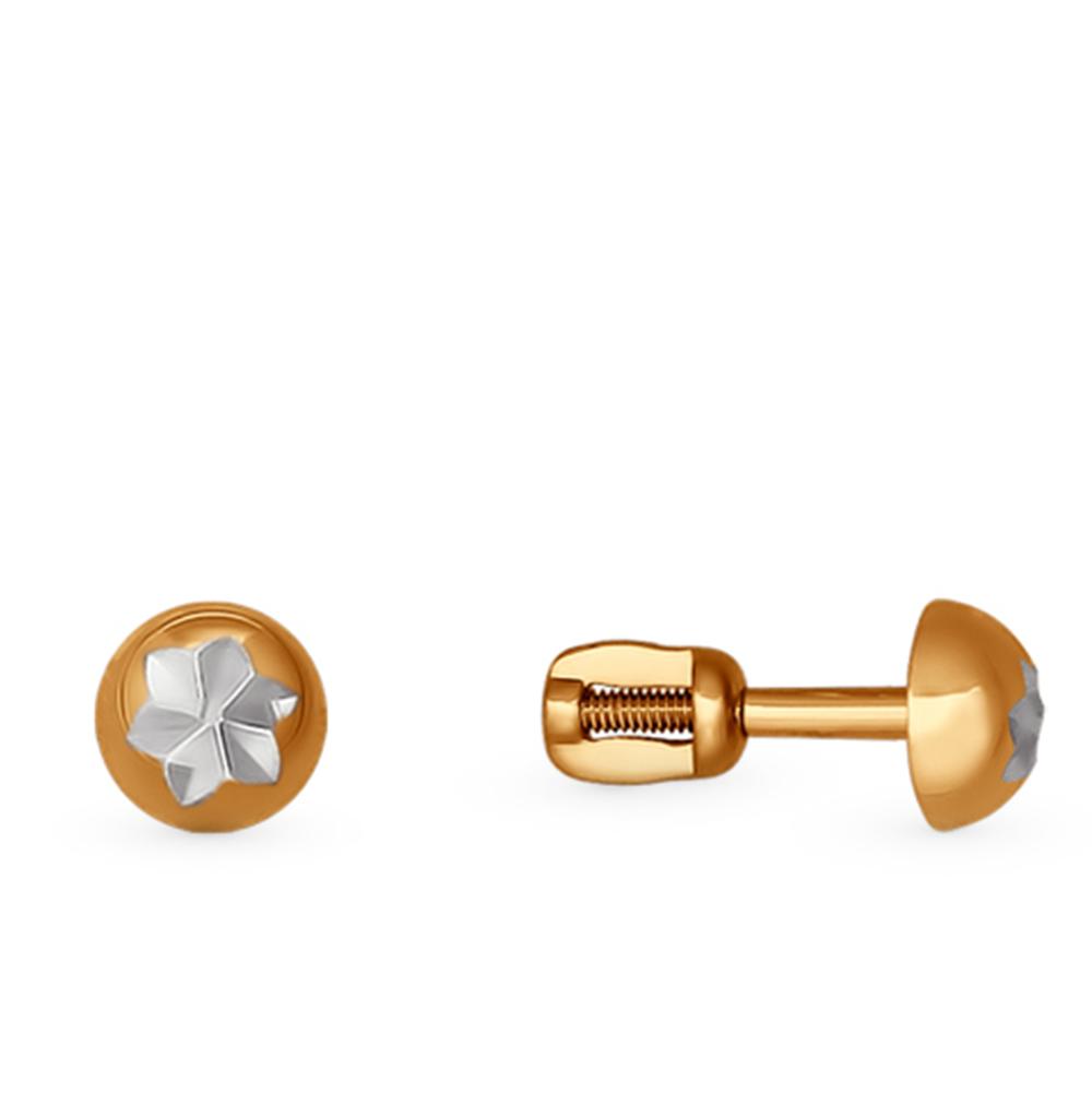 золотые серьги SOKOLOV 025374*