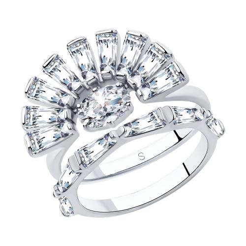 Фото «Серебряное кольцо с фианитами SOKOLOV 94013053»