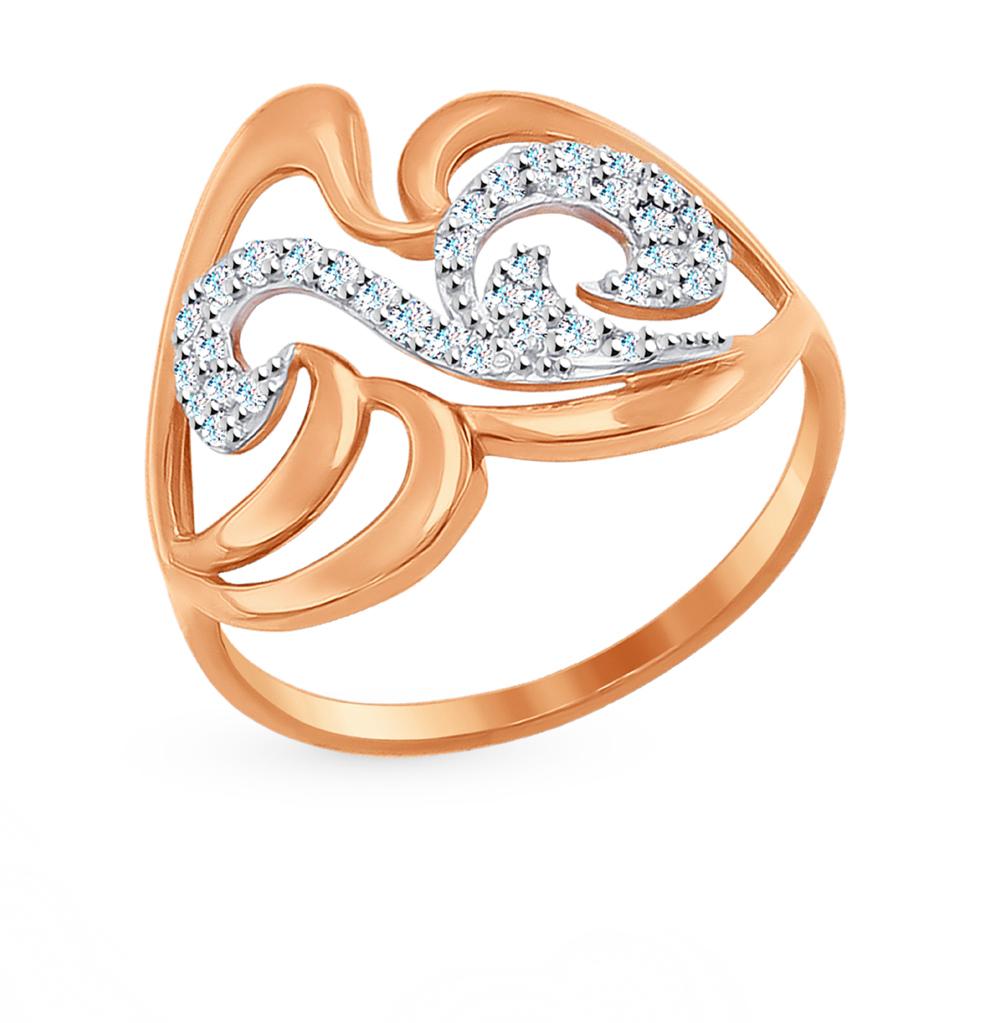 Золотое кольцо с фианитами SOKOLOV 017007* в Санкт-Петербурге
