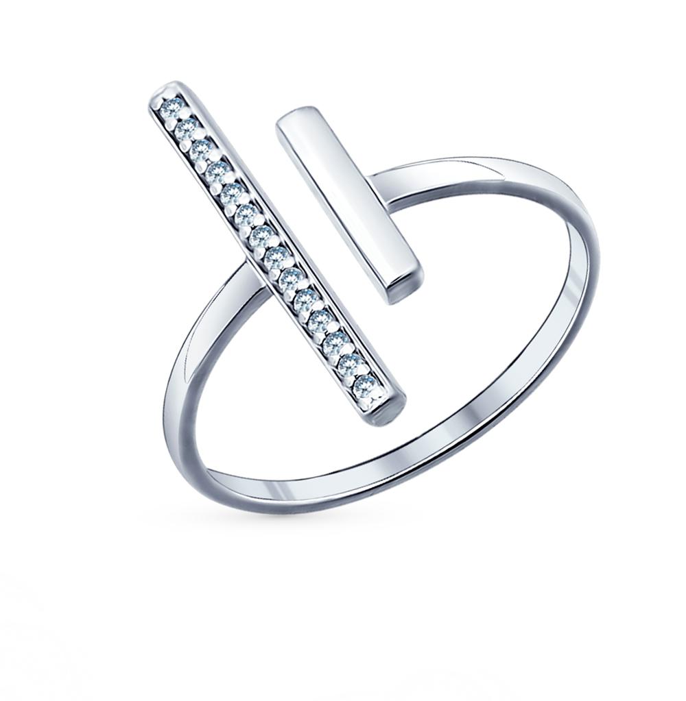 Фото «Серебряное кольцо с фианитами SOKOLOV 94011503»