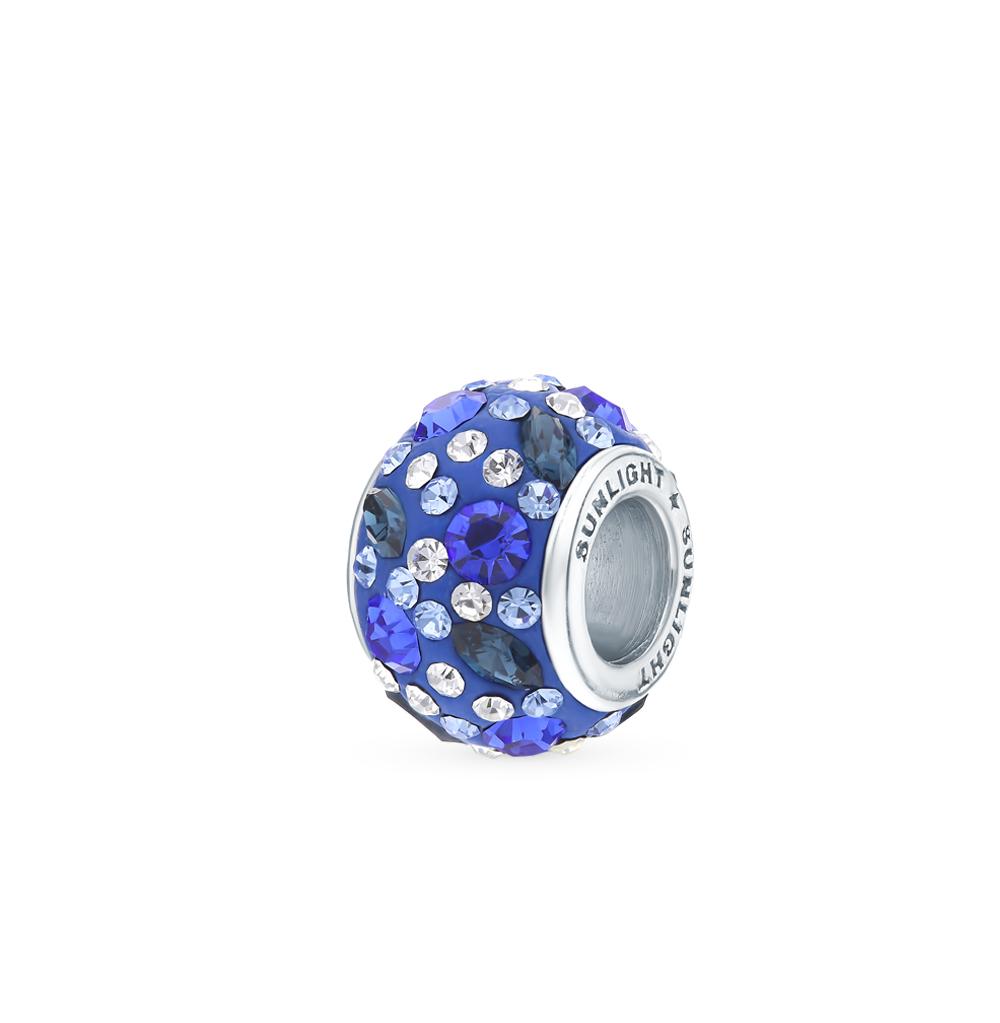 серебряная подвеска с кристаллами