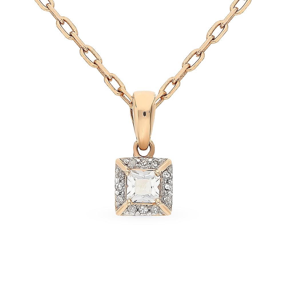 Фото «золотая подвеска с топазами и бриллиантами»