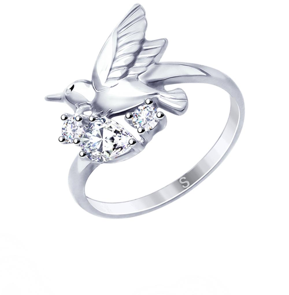 серебряное кольцо с фианитами SOKOLOV 94012547