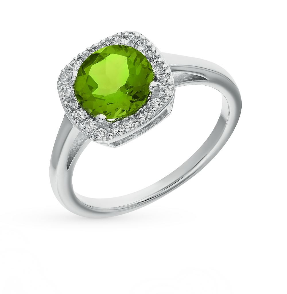 Фото «серебряное кольцо с султанитами и фианитами»