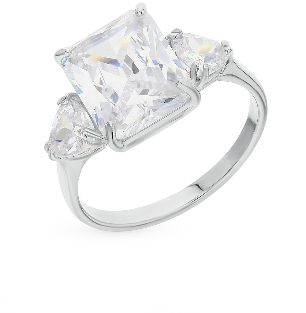 Фото «Серебряное кольцо с фианитами SOKOLOV 94012035»