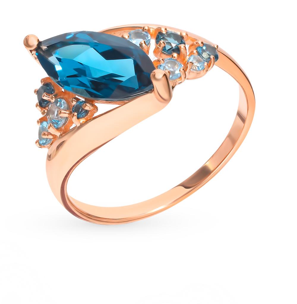 золотое кольцо с топазами SOKOLOV 715027*
