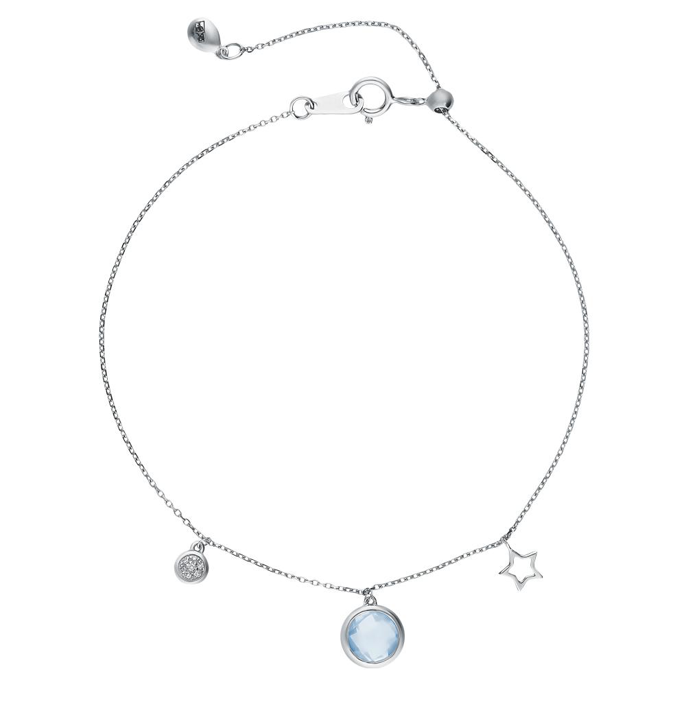 Фото «Золотой браслет с топазами и бриллиантами»