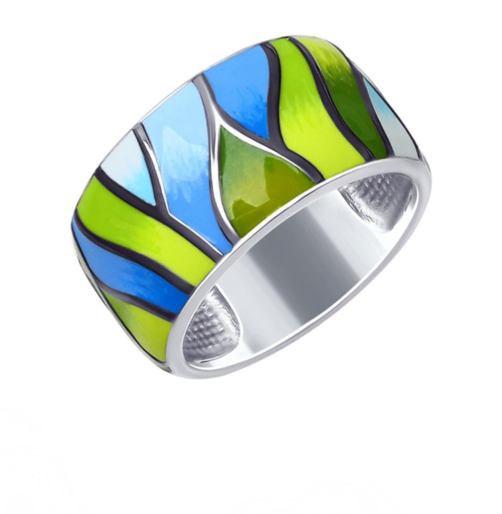 Фото «Серебряное кольцо с эмалью SOKOLOV 94012545»