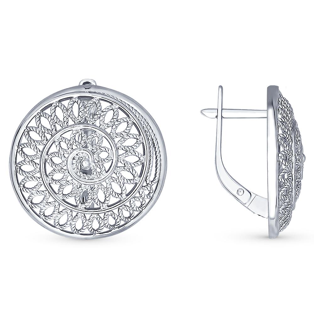 Серебряные серьги SOKOLOV 94022359 в Екатеринбурге