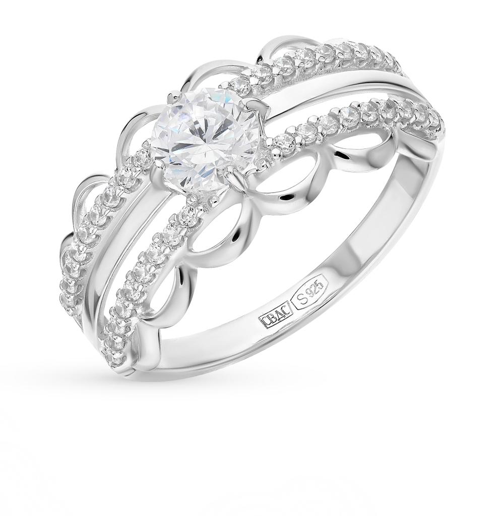 Фото «Серебряное кольцо с фианитами SOKOLOV 94012240»