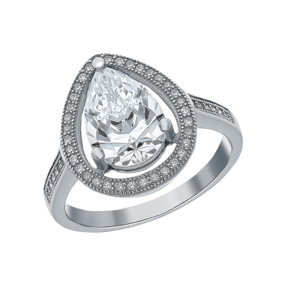 Фото «Серебряное кольцо с кварцем, хризолитами синтетическими и кубическими циркониями»